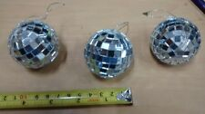 """One 2"""" SILVER MIRRORED DISCO BALL glass mirror party favor car hanging"""