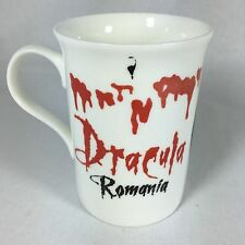 Dracula Transylvania Cocktail Mug Cup Romania Bone China Vampire Blood Halloween