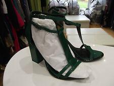 Vert taille 5 cuir talons nwt by next noir-t-barre cheville bretelles de soirée/parti