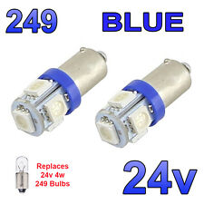 2 x 24V bleu ampoules à led BA9s 249 side light wedge poids lourds man volvo