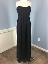 NEW J Crew Black Silk Chiffon Cocktail Formal Evening Dress Strapless 10 Taryn
