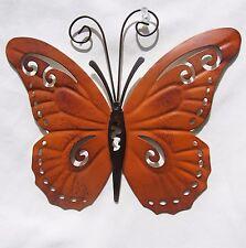 Butterfly Hand Painted Metal Wall Art Yard & Garden Home Decor (D)