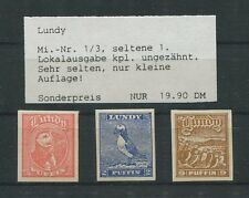 GB UK LUNDY LOKALPOST 1929 BIRDS PUFFIN VÖGEL PAPAGEIENTAUCHER m0013