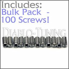 "BULK PACK QTY 100 - 4-40 x 1/4"" Stainless Saddle Height Screws For Fender Strat"