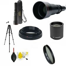 TELEPHOTO ZOOM LENS 650MM-2600MM + TRIPOD + GIFTS FOR NIKON D3300 D3100 D5000