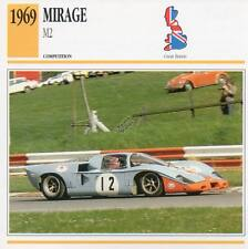 1969 MIRAGE M2 Racing Classic Car Photo/Info Maxi Card