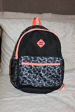 NEW Girls Womens Xersion BLACK LEOPARD  Backpack Duffle School Book Bag Tote