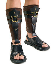 Roman Greek Gladiator Leg Guards Armor Medieval Mens Halloween Costume One Size