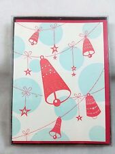 RING A DING BELLS Letterpress Christmas Cards with envelopes Box of 6 New