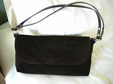 ZF LADIES BROWN SUEDE HANDBAG