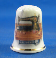 Birchcroft China Thimble -- Singer Sewing Table -- Free Dome Gift Box