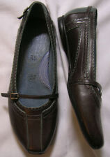 Clarks INDIGO 80932 BROWN & BLUE CUSHIONED MARY JANES size 6