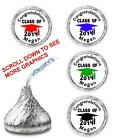 108 PERSONALIZED GRADUATION CAP CLASS OF 2014 KISSES CANDY FAVORS STICKERS DECAL