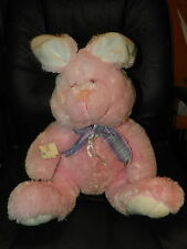 "NWT Pink Sitting EASTER BUNNY Rabbit Plush Stuffed Animal 20"" SOFT"
