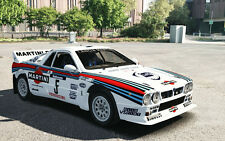 1/10 1985 Lancia Rally 037 Martini Racing RC Body wings decal for Tamiya F103 RC