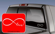 LOVE INFINITY car truck laptop Lettering Words Decal Vinyl Quote Sticker