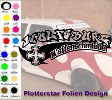 Waffenschmiede Wolfsburg nr1 Iron Cross Sticker Aufkleber Fun Geil Like Tuning