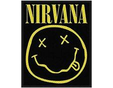 OFFICIAL LICENSED - NIRVANA - SMILEY SEW ON PATCH GRUNGE METAL COBAIN