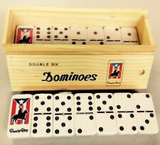 Dominos Jumbo With Puerto Rico  Flag Design--Man On Horse