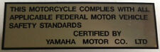YAMAHA DT1 250 DT-1 250 AT1 CT1 RT1 DT-2 RT-2 AT-2 YZ CAUTION WARNING DECAL