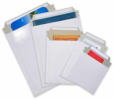 100 6x8 Rigid Photo White Cardboard Envelopes Mailers Stay Flat Express