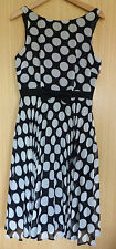 Peacocks Dress New Size 10 Ladies Black Spotty Chiffon BNWT £35 Smart Summer
