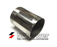 """3"""" 76MM 1.6MM WALL 9.5CM LENGTH STAINLESS STEEL 304 TUBE PIPE INTAKE EXHAUST"""