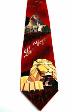 Hand Painted Men Silk Necktie Art Novelty Tie Las Vegas Casino Sprinx Lion