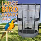 163cm Extra Large Premium Corner Parrot Aviary Bird Cage With Wheels Stainless