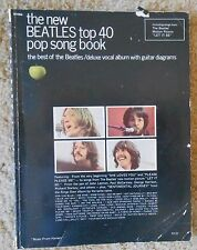 The New Beatles Top 40 Pop Song Book - Delux Vocal Album w Guitar...  Music Book