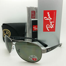 NEW RAYBAN Sunglasses RB3386 004/9A 63 Polarized Grey Black G15 Silver AUTHENTIC