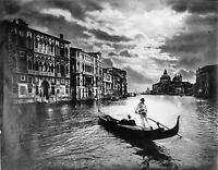 Grand Canal By Moonlight Venice A1 Photo Print