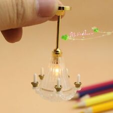 1/12 dollhouse candle MMA ceiling lamp 12 volt working light