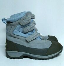LL Bean Wildcat Tek 2 Boots Winter Snow Boys 5 Women's 7 Powder Blue Grey Shoes