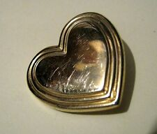 Lovely gold tone metal Variety Club heart badge brooch