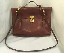 Authentic RARE Vintage Mulberry Laptop Document Briefcase Satchel Messenger Bag