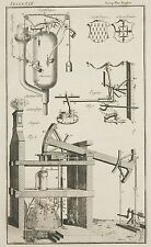 1765 ANTIQUE PRINT ~ FIRE ENGINE SUCTION PUMP FORCING PIPE APPARATUS ~ ERMINE