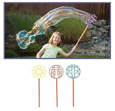 3 Jumbo Big Bubble Maker Soap Wands Outdoor Play