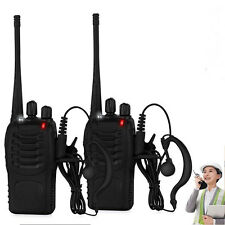 Walkie Talkie UHF 400-470MHZ Portable 2-Way Radio 5W USB Charger+Earpiece