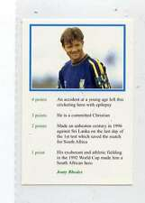 (Jm547-100) RARE,Video Guest,Jonty Rhodes, Cricketer 1999 MINT