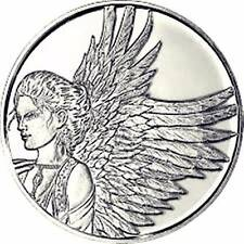 """""""Reflection"""" 1.25"""" Angel Pocket Coin Token By AngelStar; Protected By Angels"""