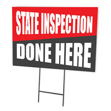 STATE INSPECTION DONE HERE FULL COLOR DOUBLE SIDED SIGN