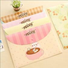 """""""Molang Rabbit"""" File Folder Pack of 4 One Layer A4 Cute Plastic Document Bag"""