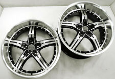 PINNACLE POISON 20 x 8.5 / 10.0 BLACK RIMS WHEELS FORD MUSTANG GT V8 +40