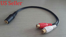 "STEREO RCA FEMALE TO 3.5MM 1/8"" HEADPHONE ADAPTER CABLE"