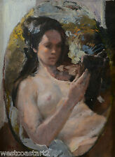 Con Van Suchtelen Female Nude Oil Painting Canadian Listed