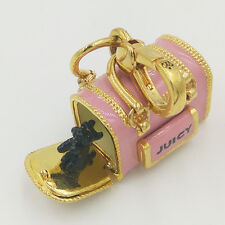 AUTHENTIC JUICY COUTURE YORKIE DOG IN BAG CHARM FOR NECKLACE BRACELET (RARE)