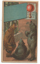 1880s Trade Card for Jacobs & Proctors Museum New York with Bear Graphics