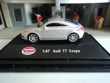 MODEL  POWER    AUDI  TT  COUPE   SILVER   1/87  HO   DIE CAST