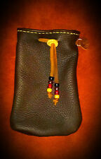 Handsewn Leather Bushcraft Ditty Bag survival gear  tinder possibles
